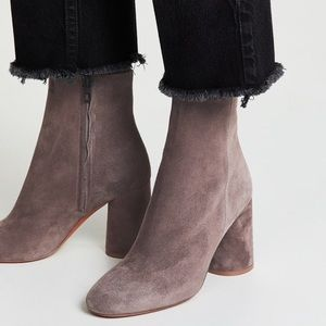 Vince gray Ridley suede Booties